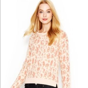 Maison Jules Pink Animal Print Sweater